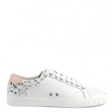 Dazed White and Powder Star Studded Trainer