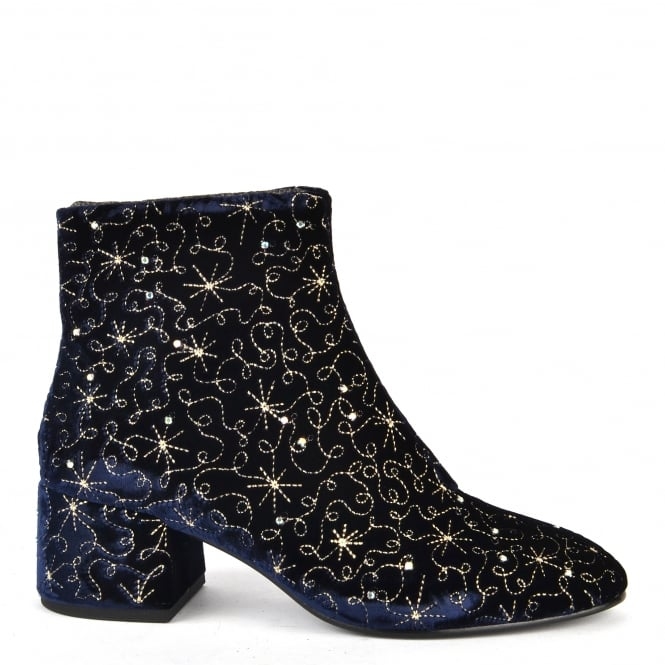 Ash Footwear Diamond Bis Midnight Velvet Boot
