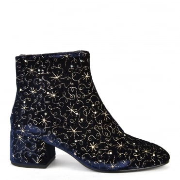Diamond Bis Midnight Velvet Boot