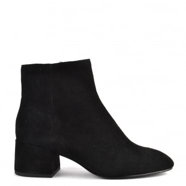 Dragon Bis Black Suede Ankle Boot