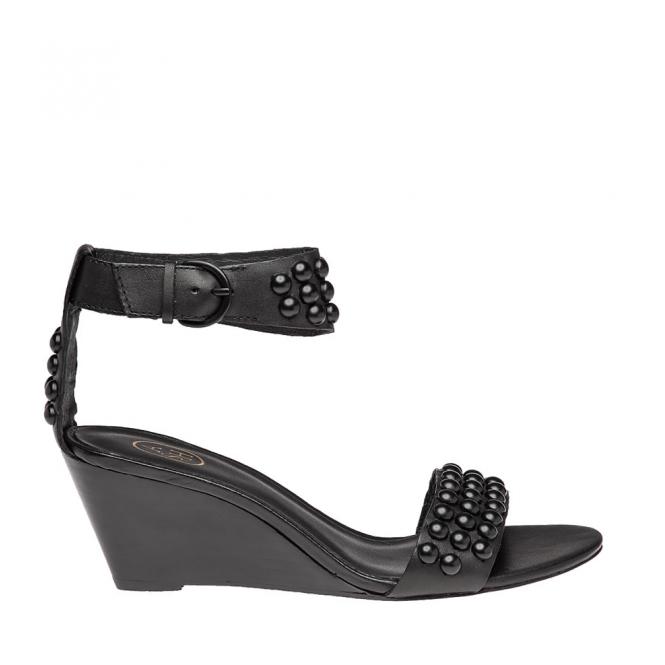 Ash Dune Black Studded Wedge Sandal