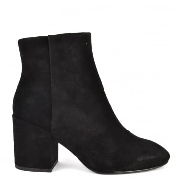 Eden Black Suede Ankle Boot