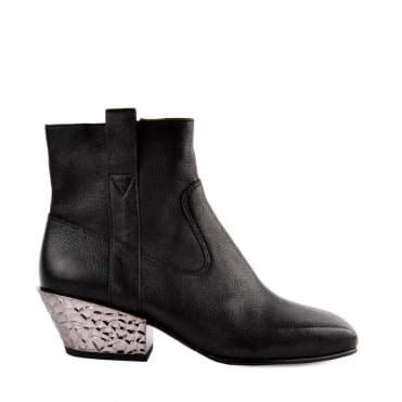 Gang Bis Black Leather Ankle Boot