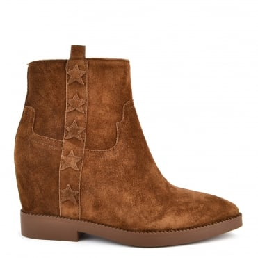 Goldie Russet Suede Wedge Boot