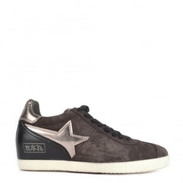 Guepard Bis Bistro 'Brown' Low Wedge Trainer