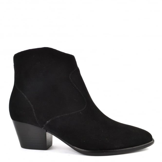 Ash Footwear Heidi Bis Black Suede Ankle Boot
