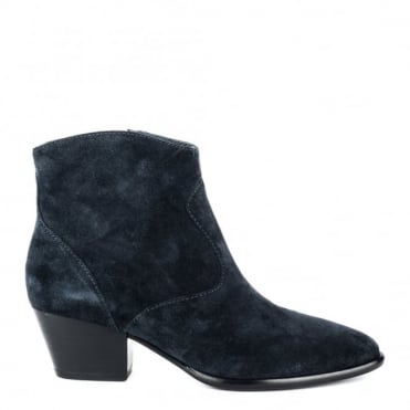 Heidi Bis Midnight Suede Ankle Boot