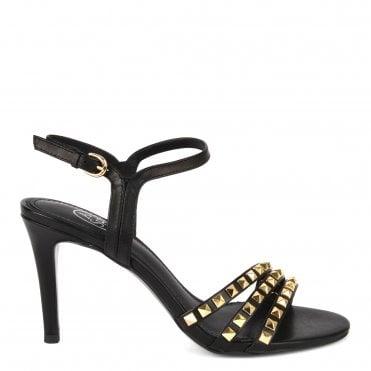 0f7a619e3508 Hello Black Leather Heel Sandals · Ash Footwear ...