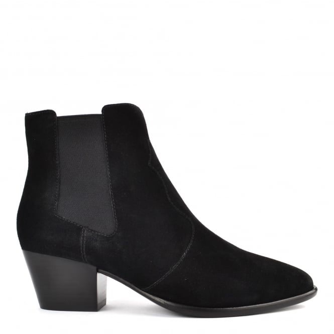 Ash Footwear Holly Black Suede Ankle Boot
