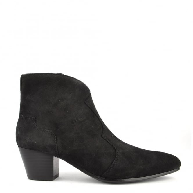 Ash Footwear Hurrican Black Suede Ankle Boot