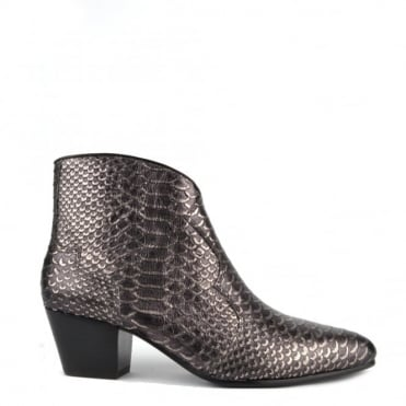 Hurrican Piombo Python Scale Ankle Boot