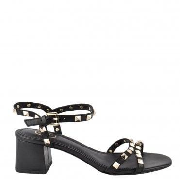 7b768646c48d Iggy Black Leather Heel Sandal · Ash Footwear ...