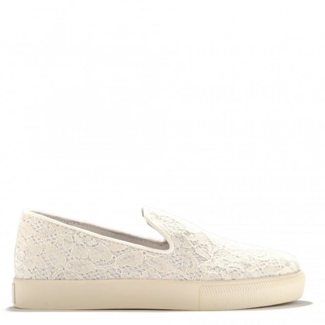 Ash Footwear Illusion Off White Lace Slip On Trainer