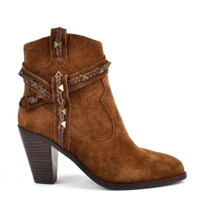 Ash Footwear Ilona Russet Suede Ankle Boot