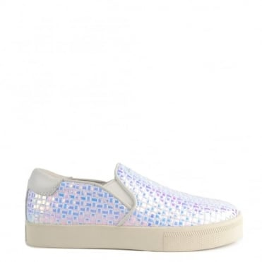 Impuls Bis Pearlescent Woven & White Slip On Trainer