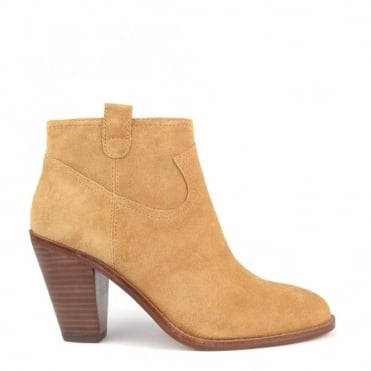 Ivana Camel Suede Ankle Boot