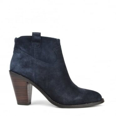 Ivana Midnight Suede Ankle Boot
