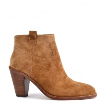 Ivana Russet 'Camel' Suede Ankle Boot