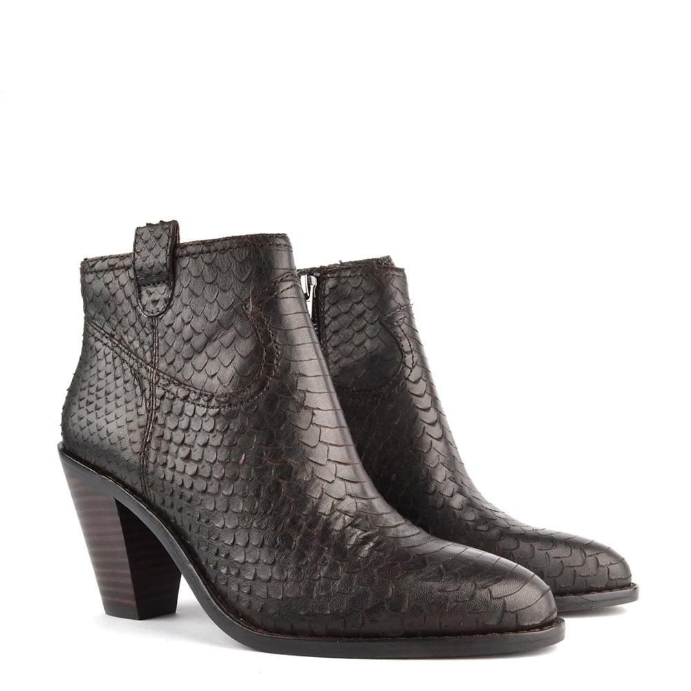 e8f2de0d5570b Ash Ivana Sigaro  Brown  Python Ankle Boot