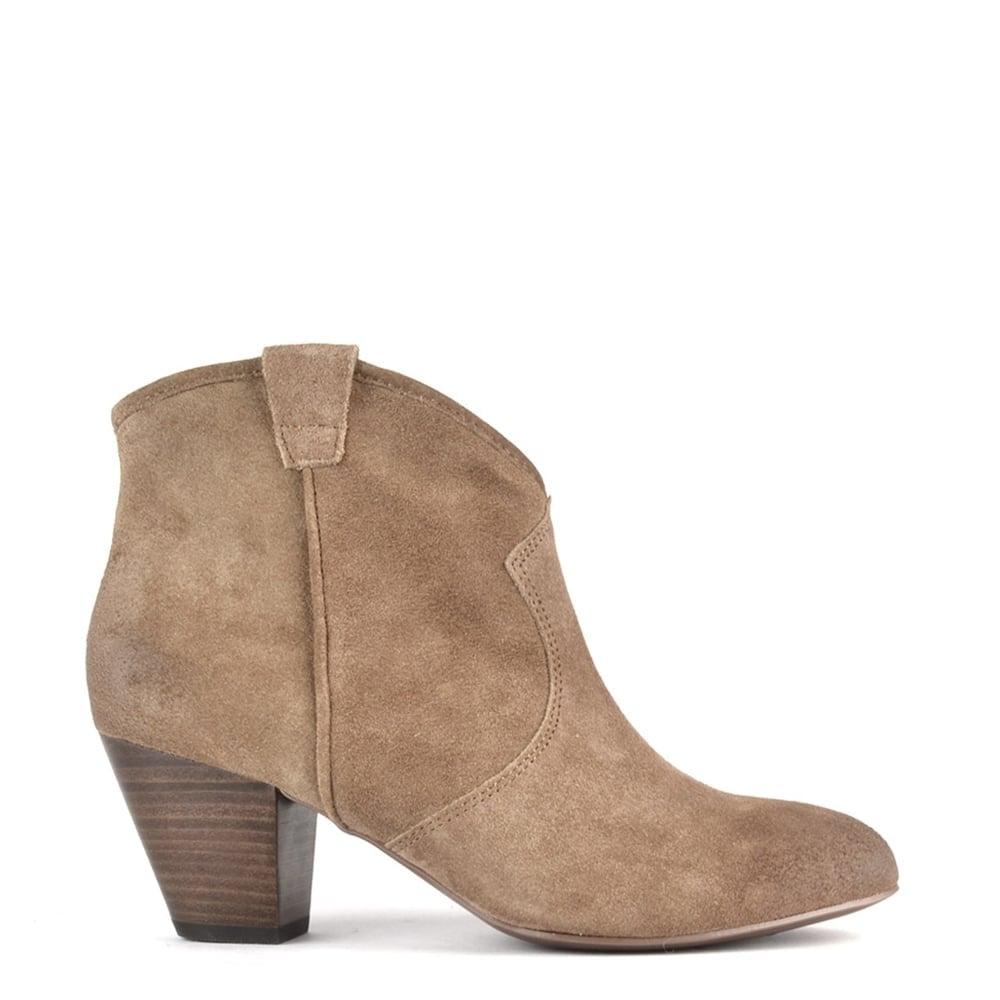 ash footwear jalouse topo beige suede ankle boot buy
