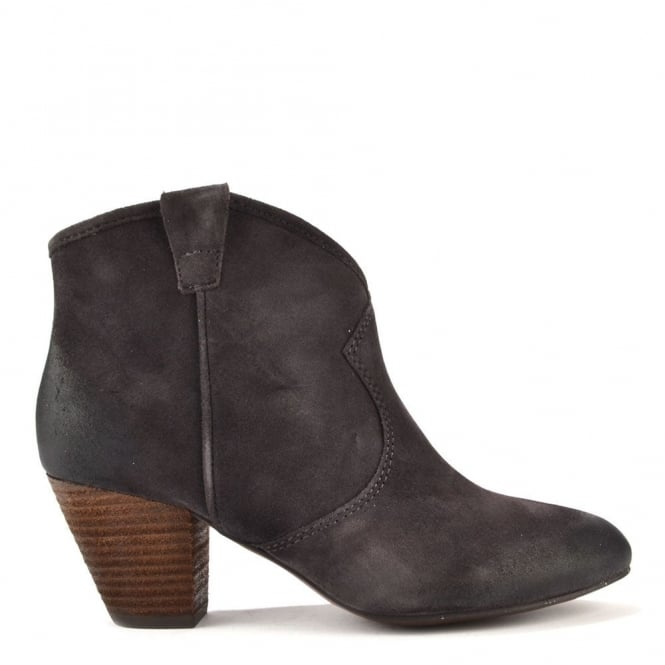 Ash Jalouse Wood Ash Brown Suede Western Style Ankle Boot