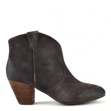 Jalouse Wood Ash 'Brown' Suede Ankle Boot