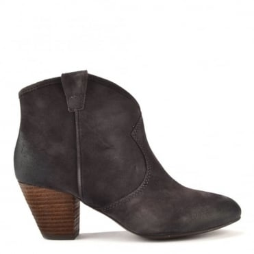 Jalouse Wood Ash 'Grey' Suede Ankle Boot