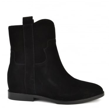 Jane Black Suede Ankle Boot