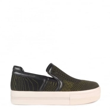 Jeday Army and Black Slip On Trainer