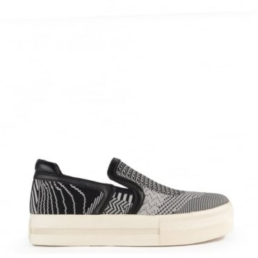 Jeday Grey Knit Slip On Trainer