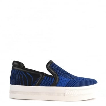 Jeday Saphir and Black Slip On Trainer