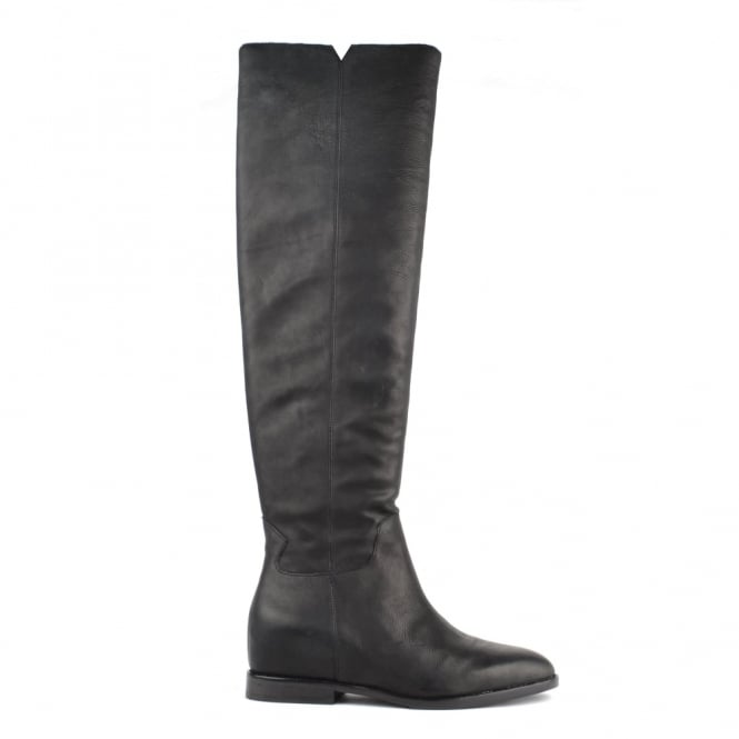 Ash Footwear Jess Black Leather Knee High Boot