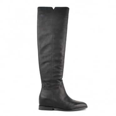 Jess Black Leather Knee High Boot