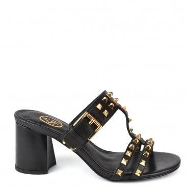 2f667740913d6 June Black Leather Heel Sandals. Ash Footwear ...