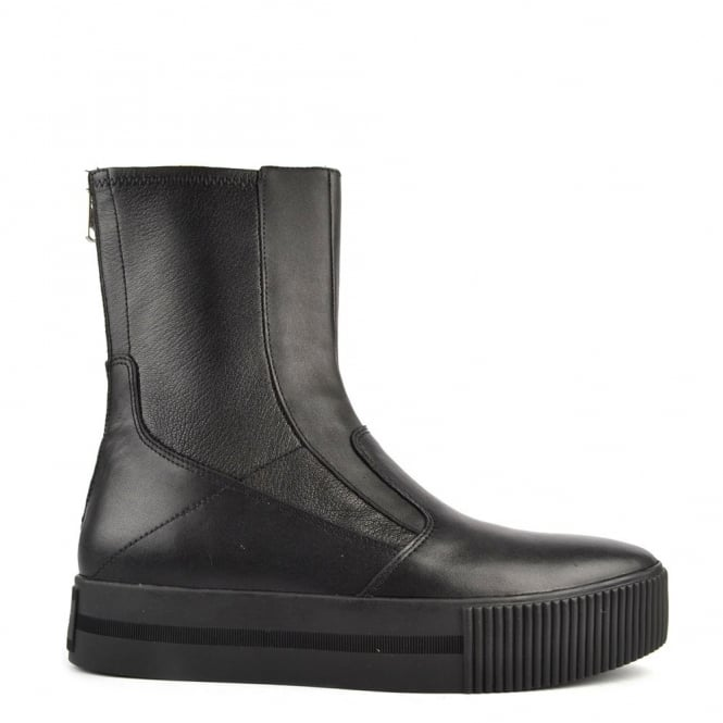Ash Footwear Kick Black Leather Boot