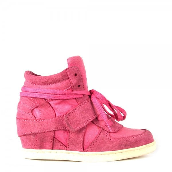 239f074edec Ash Footwear Kids  Babe Pink Suede and Canvas Hi Top Trainer