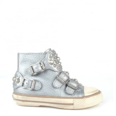 Kids' Frog Silver Studded Trainer