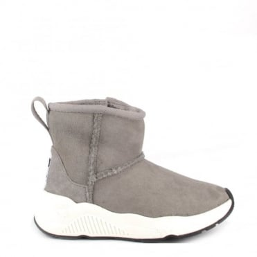 Kids' Mars Grey Shearling Suede Boots