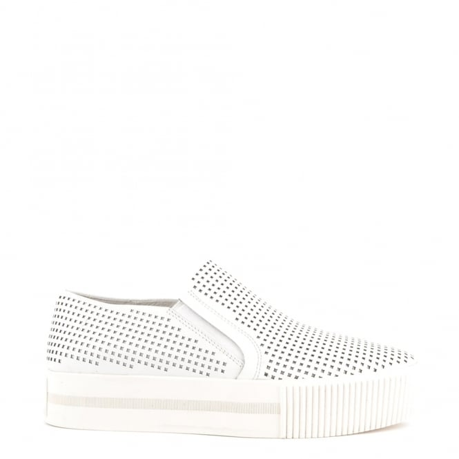 Ash Footwear Kurt White Laser Cut Slip On Trainer