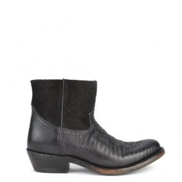 Kut Black Western Ankle Boot