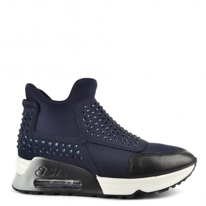Ash Footwear Laser Stone Midnight Neoprene Gemstone Trainer