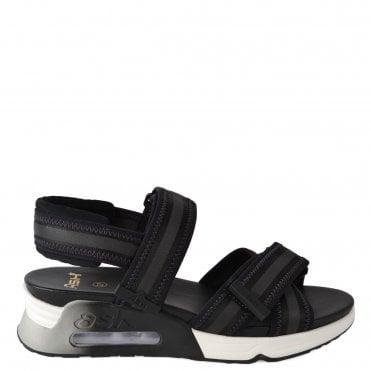 59d12da319756 Lewis Black Leather Trainer Sandal · Ash Footwear ...