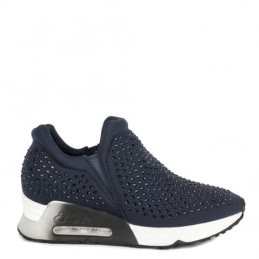 Lifting Navy Neoprene and Gemstone Trainer
