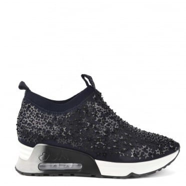 Lighting Star Black and Midnight Embellished Trainer