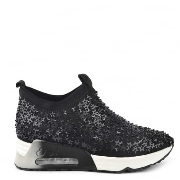 Lighting Star Black Embellished Trainer