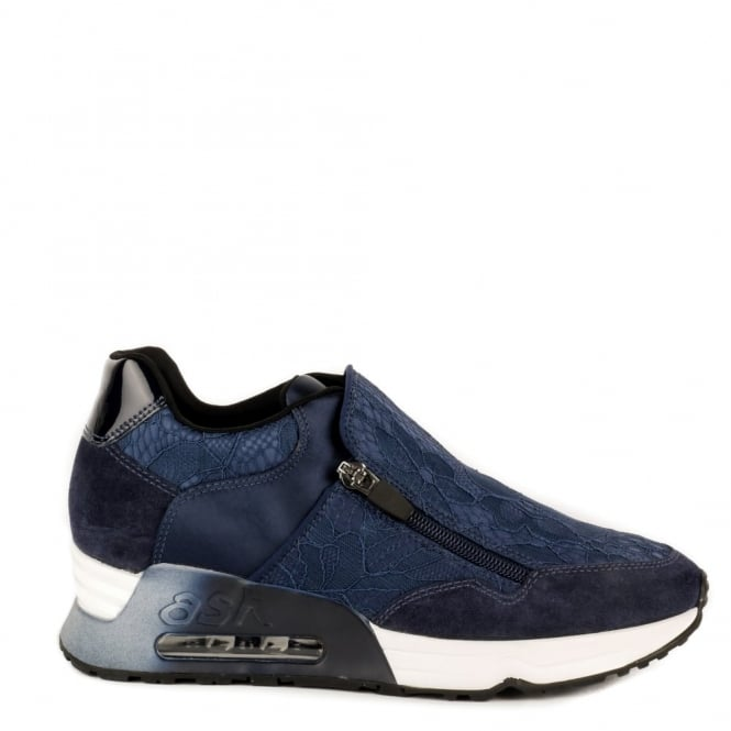 Ash Footwear Look Lace Navy Lace Trainer