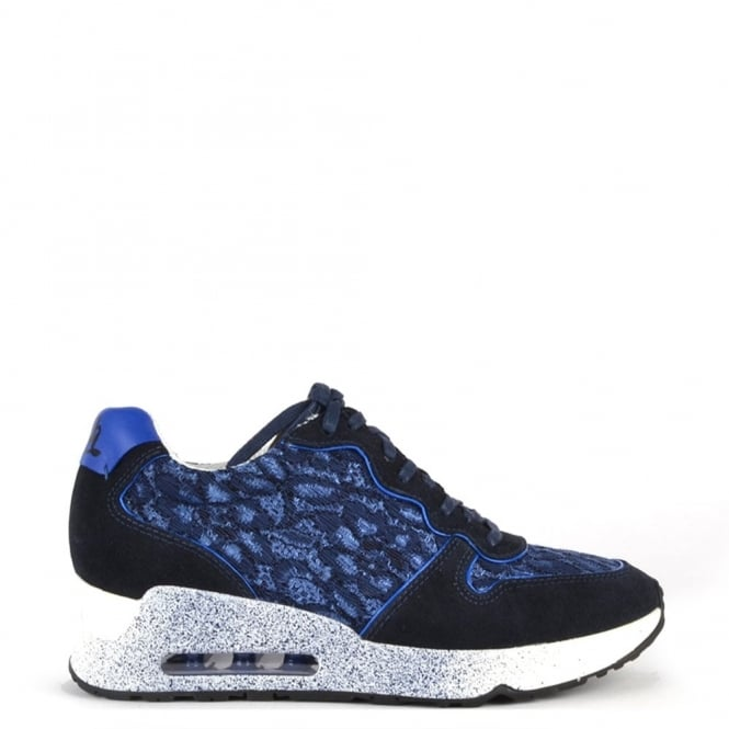 Ash Footwear Love Lace Indigo and Saphir Trainer