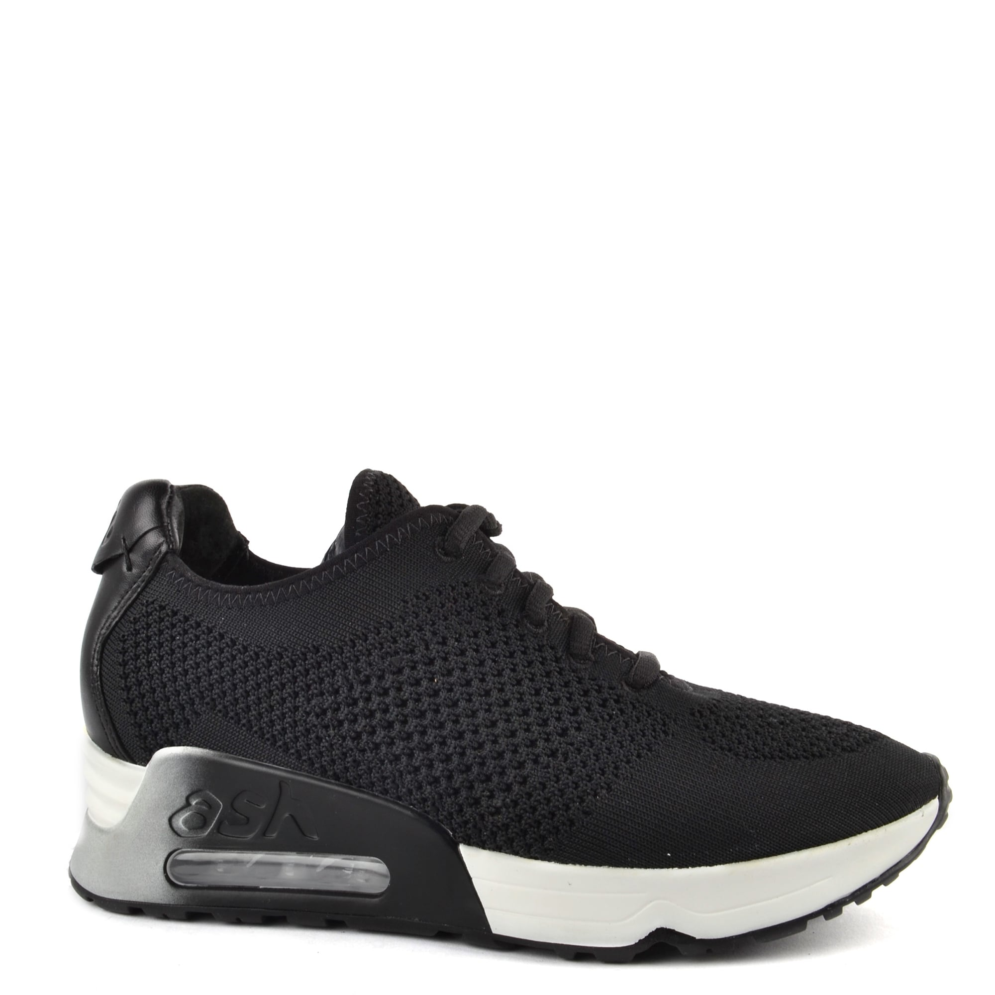 Ash Lucky Black Knit Trainers