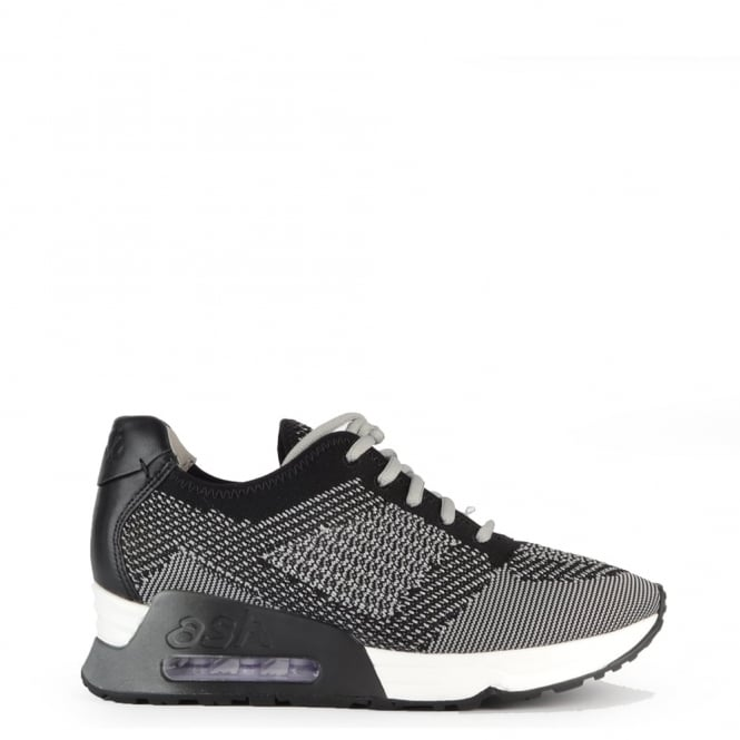 Ash Footwear Lucky Knit Marble and Black Trainer