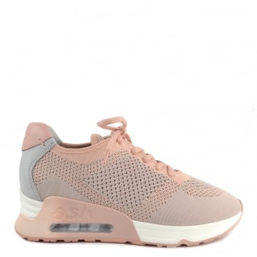 Lucky Knit Pearl and Nude Trainer